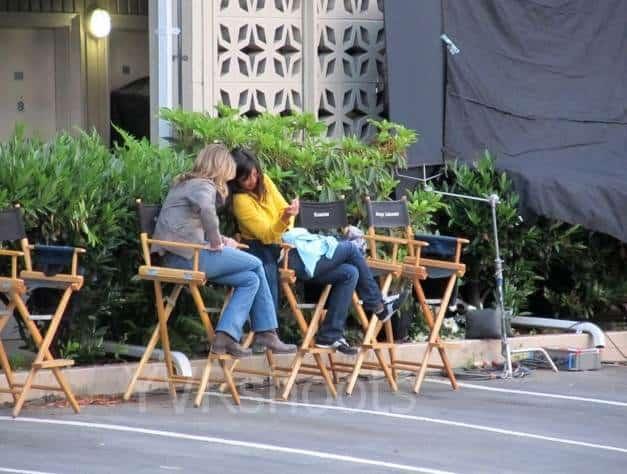 Supernatural Season 7: Guest Stars (Jewel Staite) on Set