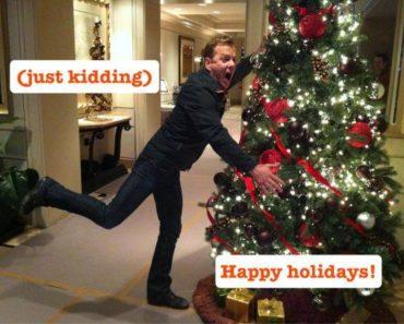 Kiefer Sutherland Christmas Card 2011