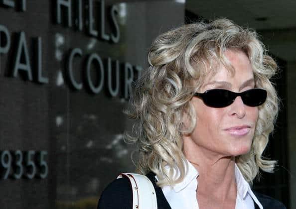 Farah Fawcett doing jury duty at Beverly Hills, CA