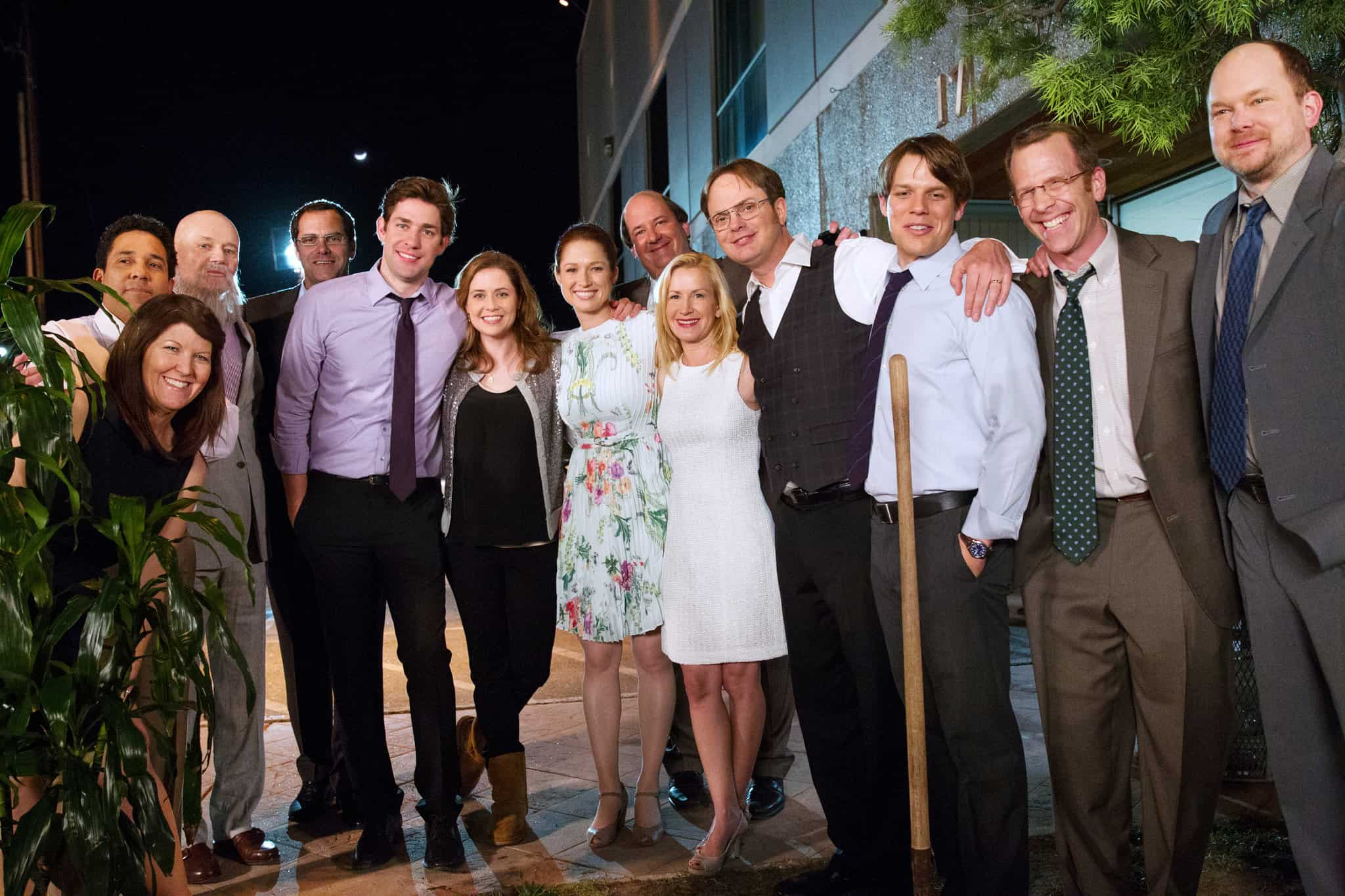 The Office cast during the series' final episode