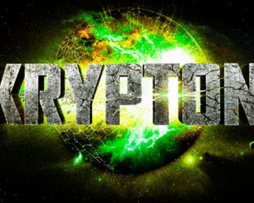 Title graphic for Syfy channel's Superman prequel Krypton