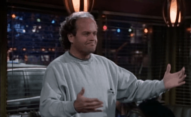with such a strong thoroughline of family reconciliation running through the first ten episodes of frasier it would be easy for the writers to make