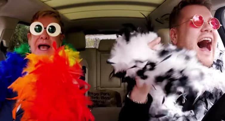 James Corden Does Carpool Karaoke With Elton John ...