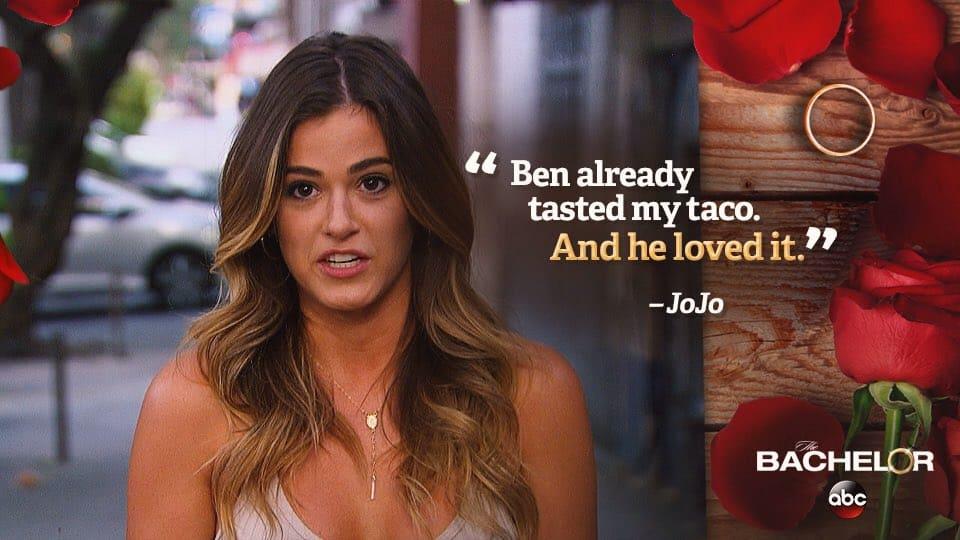 The Bachelor Season 20 Episode 5 Taco Monday Ben Tastes Jojos And Loves It