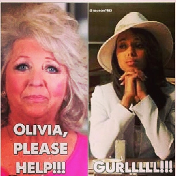 Olivia Pope Paula Dean meme