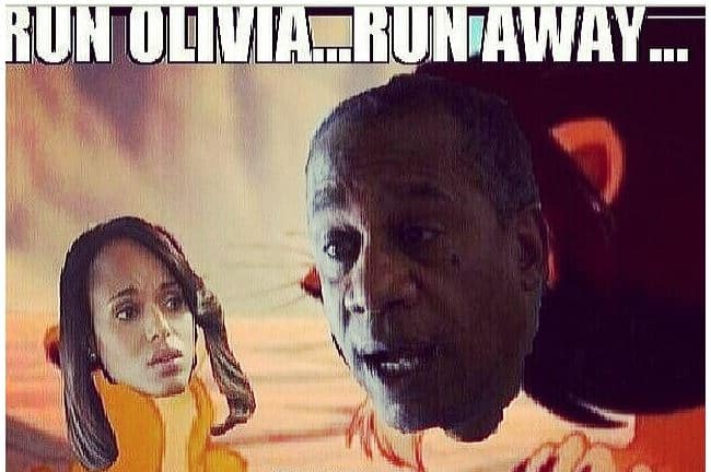 Olivia Pope Lion King Scandal meme