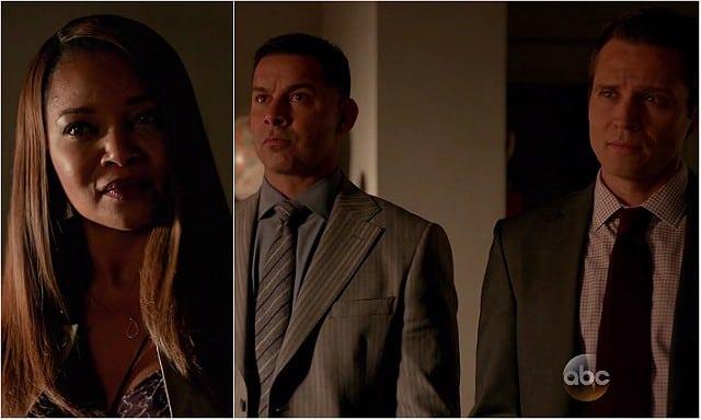 "Castle, ""Death Wish"" - Laine, Esposito & Ryan looking at Castle"
