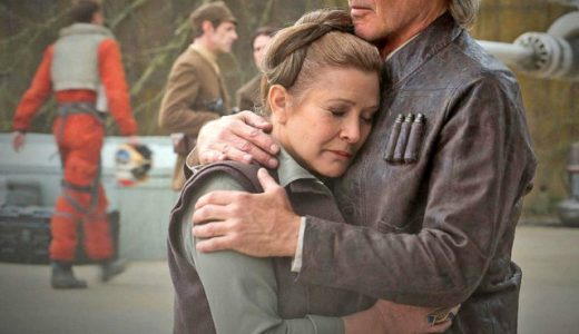 Carrie Fisher with Harrison Ford - The Force Awakens