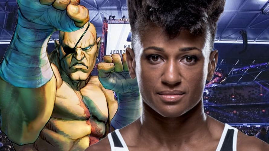 Resultado de imagen para Female UFC Fighter Angela Hill Shows Up At Weigh-Ins Wearing Awesome Street Fighter Themed Costume.