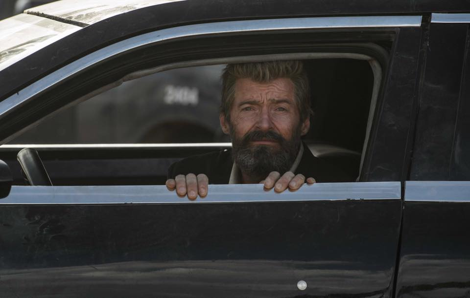 photoshopping hugh jackman looking out a car window as logan