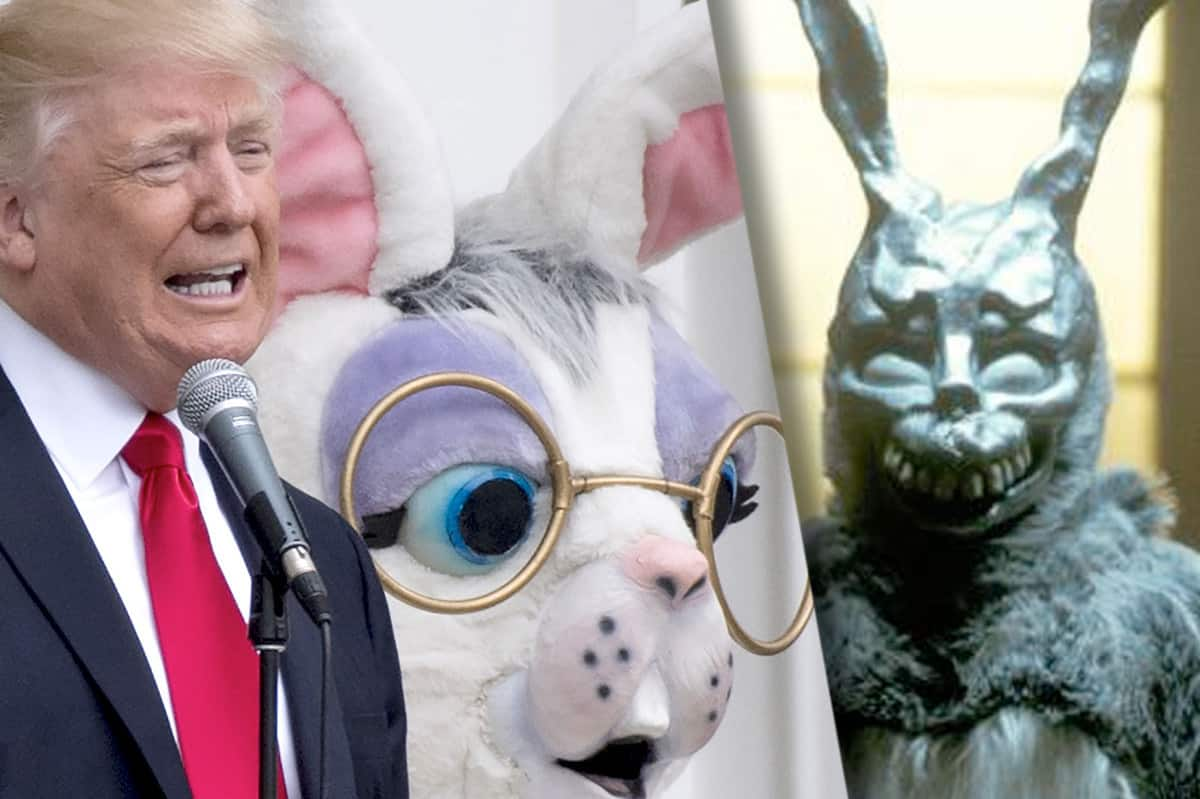 784487ef5c12 Anyone Else Completely Frightened by Donald Trump s Easter Bunny ...