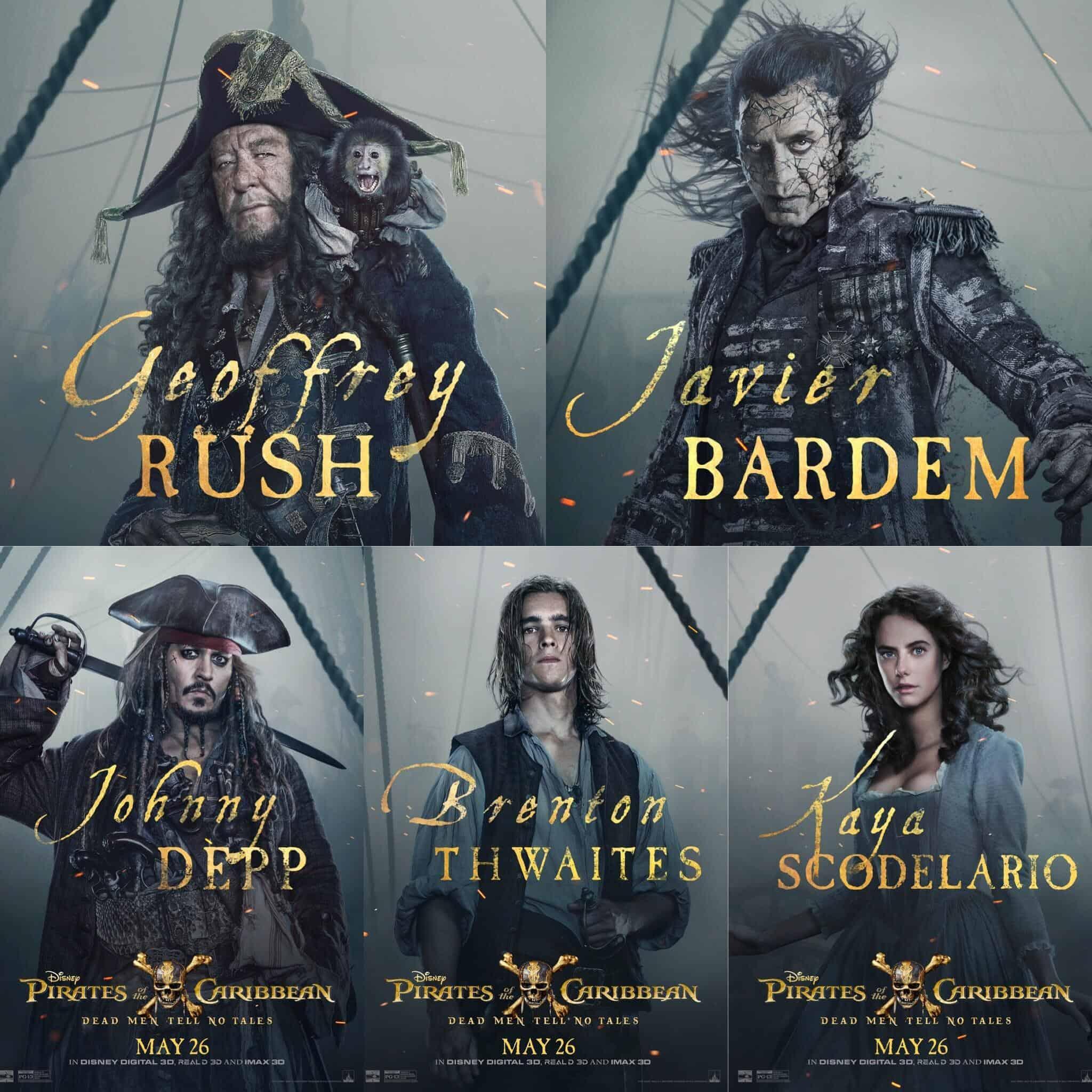 8c49ea09d809b New Pirates of the Caribbean: Dead Men Tell No Tales Cast Posters