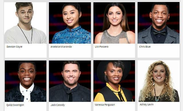 The Last Night of The Voice Season 12 Battles - survivors for Team Alicia