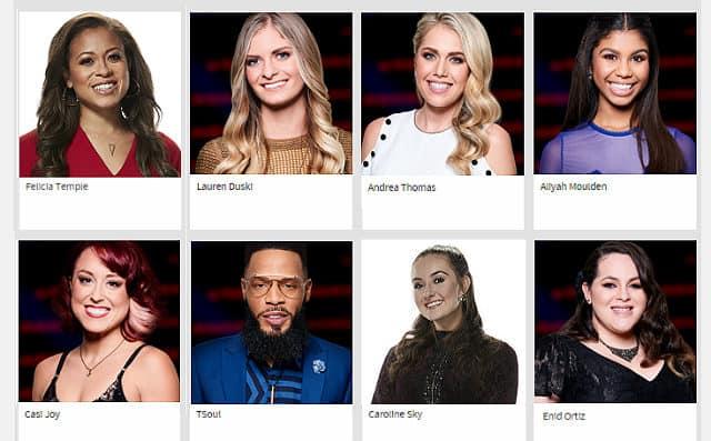 The Last Night of The Voice Season 12 Battles - survivors for Team Blake