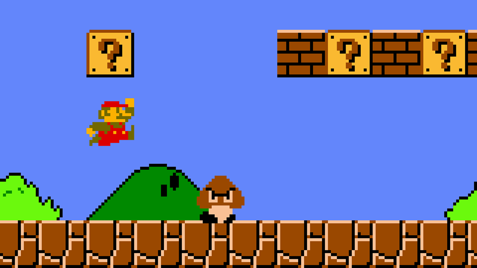 guy completes super mario bros run in the most boring way possible