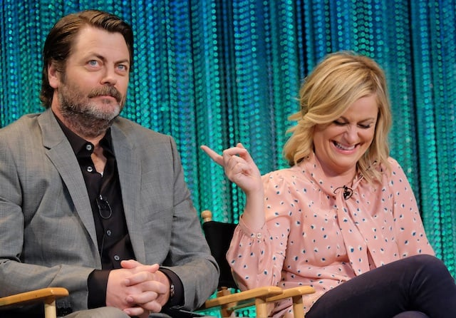 amy poehler and nick offerman to team up for reality series making it. Black Bedroom Furniture Sets. Home Design Ideas