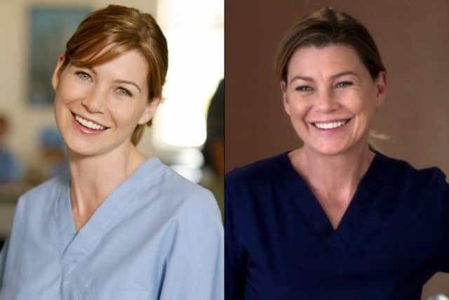 Meredith Grey then and now