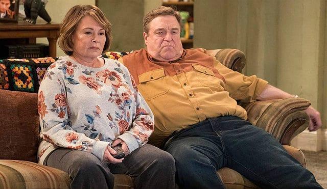 """Roseanne Barr with John Goodman on """"Roseanne"""""""