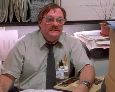 Stephen Root as Milton in Office Space