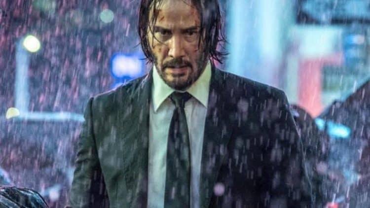 John Wick in the rain