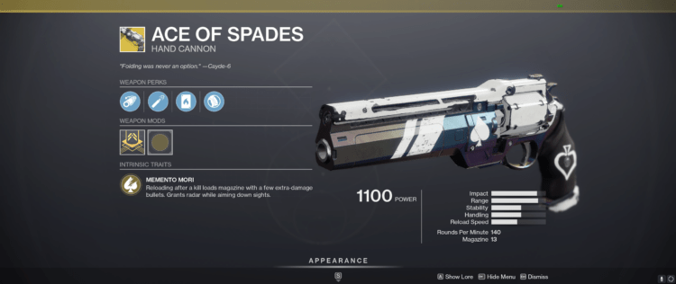 Everything You Need To Know About Ace Of Spades In Destiny 2