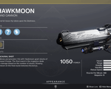 Destiny 2 Hawkmoon
