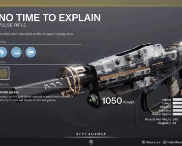 Destiny 2: No Time To Explain