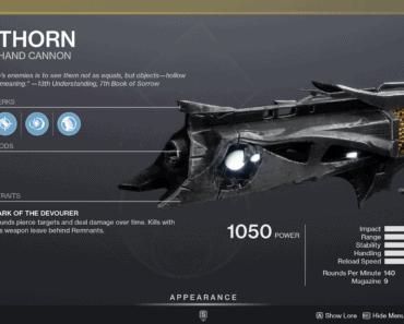 Destiny 2 Thorn