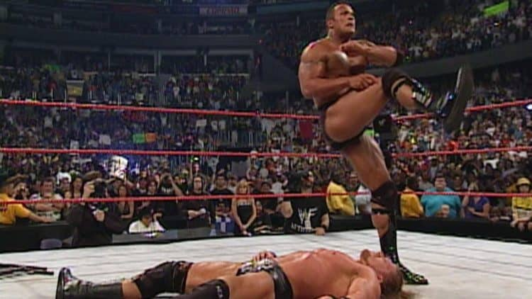 The Rock HHH Backlash 2000