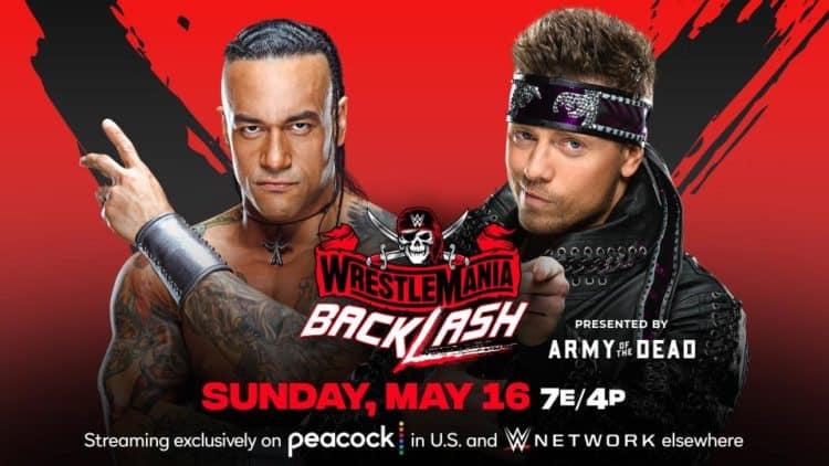 WWE WrestleMania Backlash 2021 Damien Priest Miz Key Art