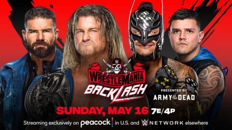 WWE WrestleMania Backlash 2021 Dirty Dawgs Rey Dominik Mysterio Key Art