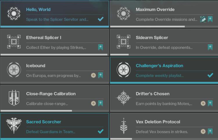 destiny 2 week 1 challenges