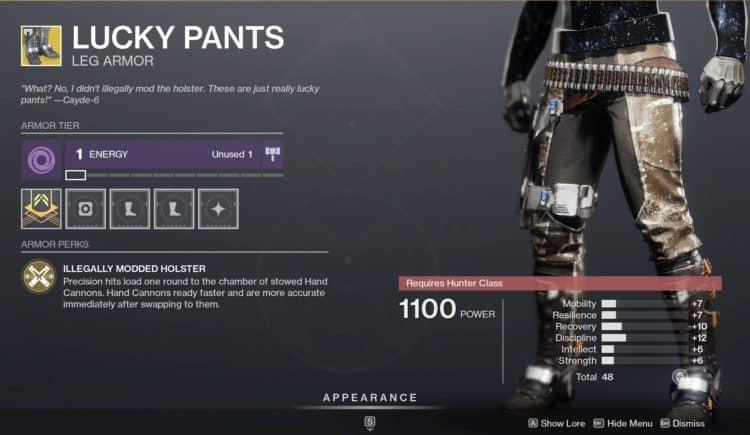 destiny 2 hunter boots