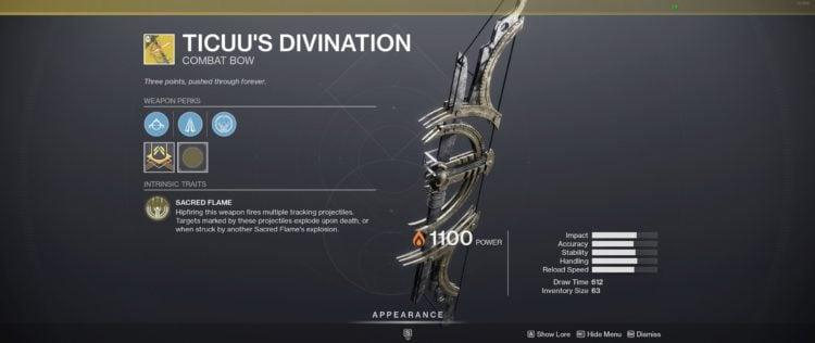 exotic bows destiny 2