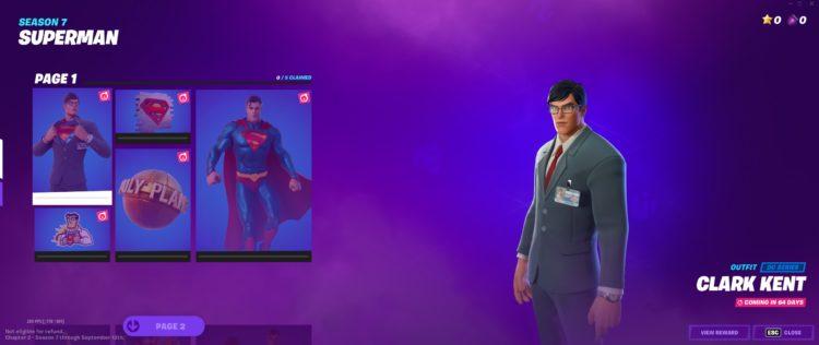 Fortnite Zero Point Superman Skin