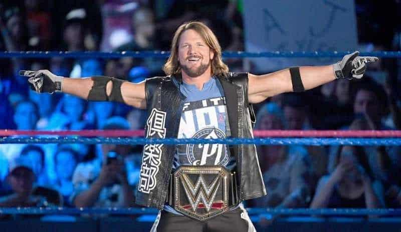 WWE AJ Styles WWE Champion
